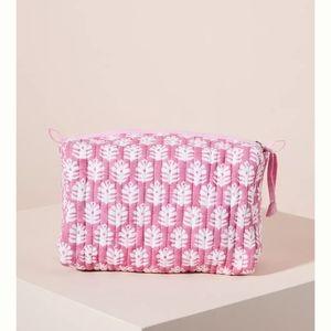 Anthropologie SZ Blockprints pink pouch